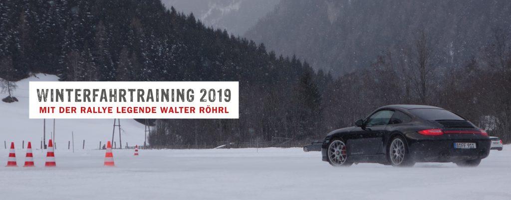 Winterfahrtrainung Porsche schwarz